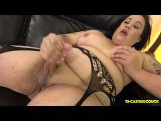 Curvy Camille Marie Cums On The Couch [Tattooed Shemale]