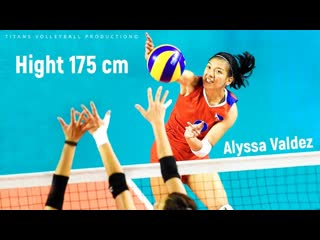 Alyssa valdez amazing volleyball player. hight 175 cm. motivation video