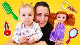 Anne Vlog. Sevcan Derin'in salarn topluyor. Prenses Sofia ile kuafr oyunu