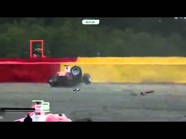 Konstantin Tereshchenko crash during GP3 series practice 2014