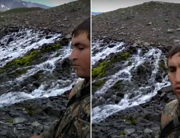 Выходы воды из гор и холмов. Часть 1