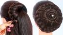 8 easy juda hairstyles for gown, lehenga, saree || new hairstyle for girls || trending hairstyles