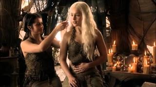 Khaleesi Daenerys Targaryen and Khal Drogo from Game of Thrones