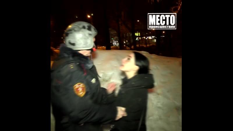 Буйную Ксюшу после грабежа успокоил росгвардеец