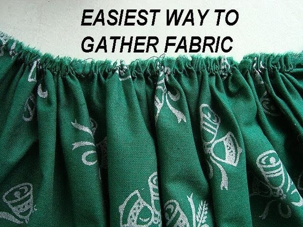 EASIEST METHOD TO GATHER FABRIC, sewing for beginners
