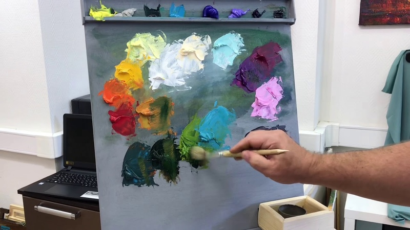 Как написать букет цветов в технике алла прима масло