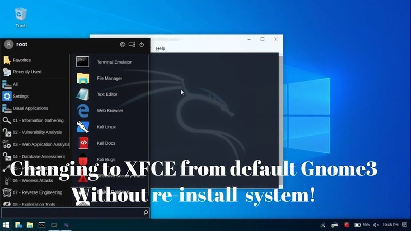 Kali Linux How to Upgrade Gnome to Kali xfce 2019 4 Fix Error Kali Undercover Full Tutorial 2020