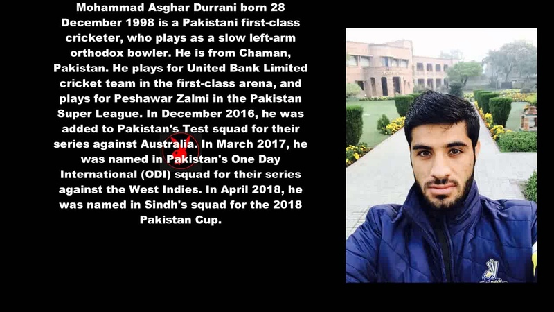 Pakistani Cricketer (Mohammad Asghar) Biography Detail
