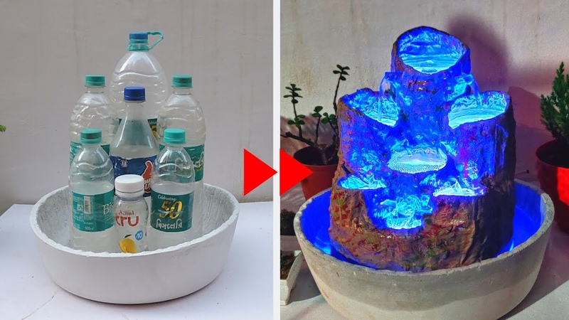Amazing Water Fountain with Plastic Bottle and Led DIY