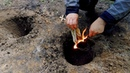 Тип костра Дакотский очаг/Готовим мясо на рожне/DAKOTA FIRE HOLE/Meat at the stake/Bushcraft