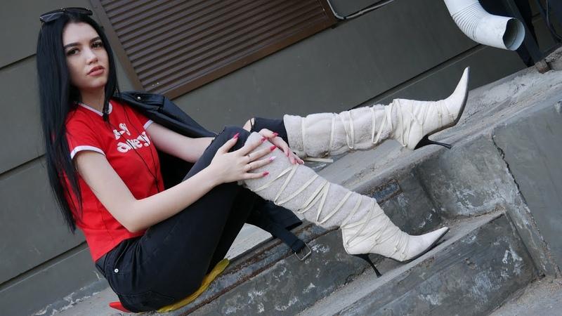 Nana's pointed toe high heels Gianmarco Lorenzi sheepskin boots Size EU 37 US 7
