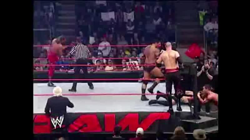 Batista Kane Randy Orton vs Goldberg RVD Shawn Michaels