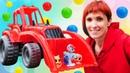 Красный трактор и Развивающее видео для малышей - Мультик про игрушки Капуки Кануки