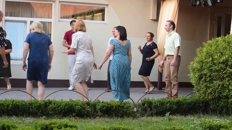Танцы на юбилее Лены Гавриленко.