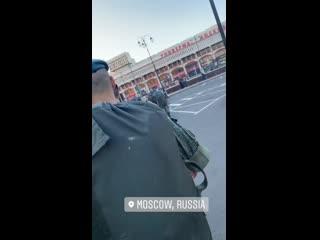 Голубые береты в Москве #армия #солдаты #вдв
