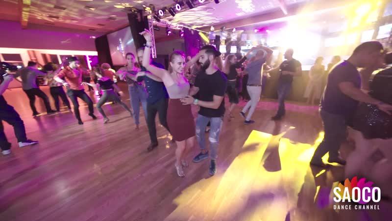 Soufiane Ottmani and Aleksandra Shatalova Salsa Dancing at El Sol Warsaw Salsa Festival 2019 Thursday 07 11 2019
