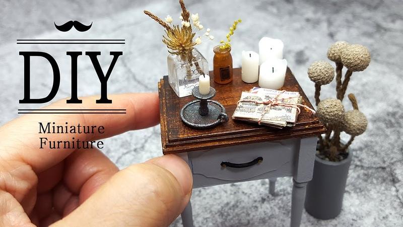 DIY MINIATURE Miniature Furniture side table Myongs miniature 묭스미니어처