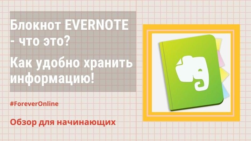 Evernote Эверноут блокнот №1 для хранения и систематизации информации Инструкция для начинающих