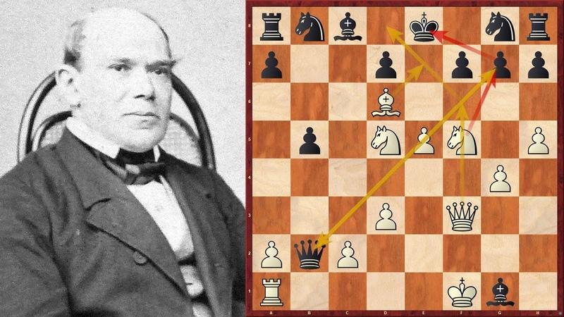 Die Unsterbliche Partie Adolf Anderssen vs Lionel Kieseritzky London 1851