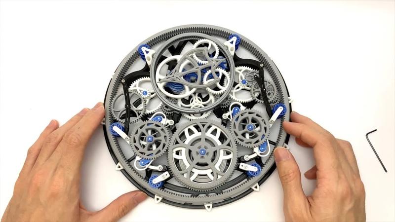 Cool 3D Printed Mechanical Clock Tourbillon Mechanica FDM Version Assembly Guide