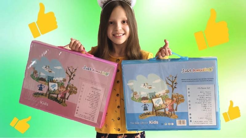 Обзор на детский набор для творчества 176 предметов набор для рисования с мольбертом Алька