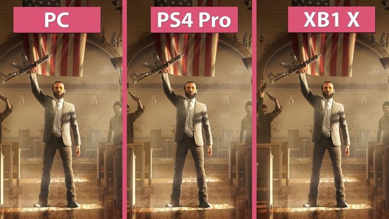 [4K] Far Cry 5 – PC Ultra vs. PS4 Pro vs. Xbox One X Graphics Comparison