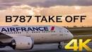 AIR FRANCE B787 PARIS TAKE OFF WITH ATC
