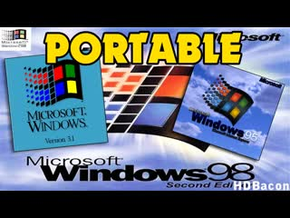 Портативный windows 3.1 windows 95 windows 98
