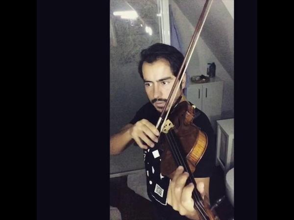 Violin Chopping left hand pizz 4
