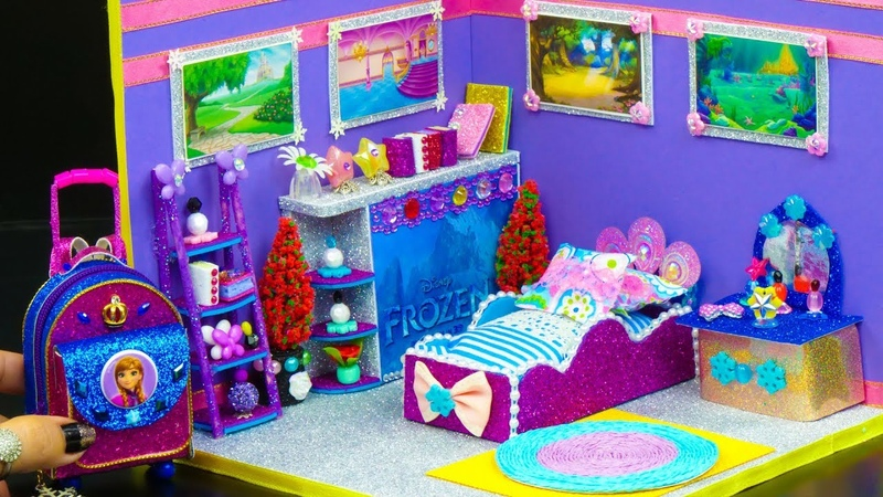 DIY Miniature Doll Bedroom for Disney Frozen Anna