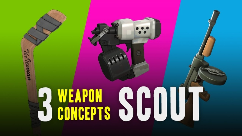 TF2 - 3 Weapon Concepts for Scout