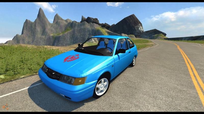 BeamNG.Drive Mod Lada BA3 2112K (physics Crash test)