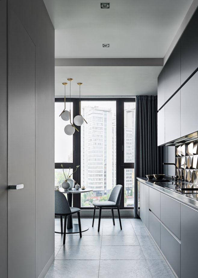 Квартира в серых тонах, 100 м² от бюро Ab-architects || 01