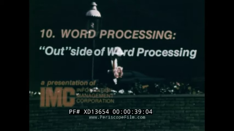 1975 WORD PROCESSING TRAINING FILM 1975 ELECTRIC TYPEWRITER MINI COMPUTER FILM XD13654