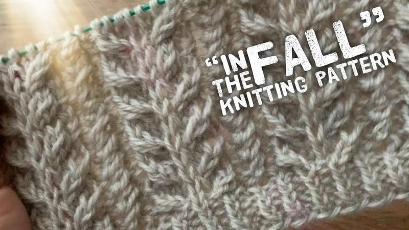 Изысканная РЕЗИНКА спицами In the fall подробно! ПРЯЖА Merino Yak Elastic knitting pattern