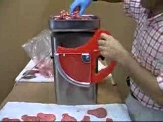 Tritacarne 22 hamburgatrice Meat grinder mincer mod. Barcellona con applicazione burger maker