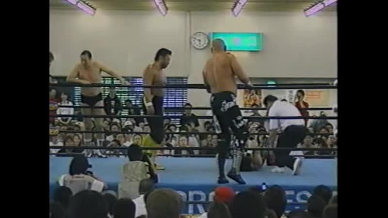 2003 06 01 Toshiaki Kawada Masanobu Fuchi Nobutaka Araya vs Keiji Mutoh Satoshi Kojima Jimmy Yang
