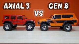 Новый AXIAL SCX10 III против REDCAT GEN 8 ... Сравнительный тест внедорожников 4x4