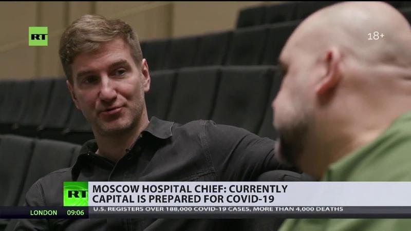 Moskaus vorderster Corona Bekämpfer positiv auf Virus getestet