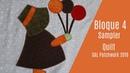 Bloque 4 Sampler Quilt Patchwork Aplicación en tela Sunbonnet Sue