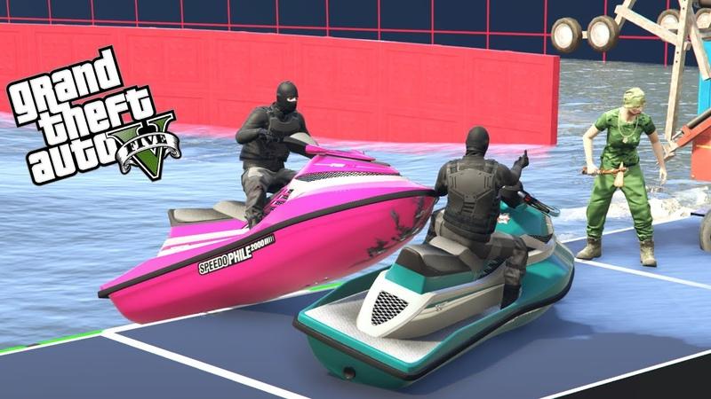 SKUTERY WODNE VS BIEGACZE w GTA 5 Online Hogaty i EKIPA ŁATWO NIE BĘDZIE 30