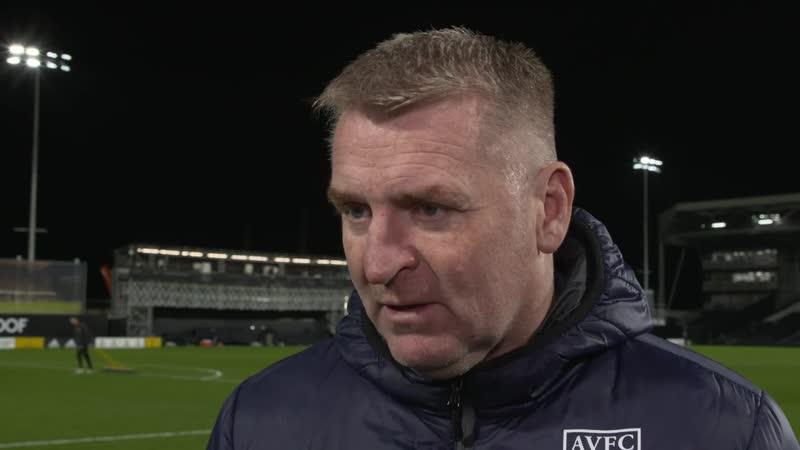 Post Match Reaction Dean Smith Fulham v Aston Villa