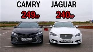 ЧТО МОЖЕТ НОВАЯ КАМРИ 3.5? CAMRY 3.5 V70 vs JAGUAR XF  ГОНКА!!!