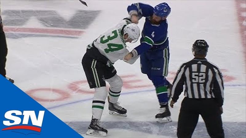 14 11 2019 Денис Гурьянов vs Джорди Бенн первый бой Гурьянова в НХЛ
