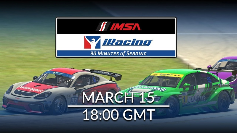 Race the iRacing IMSA 90 Minutes of Sebring March 15