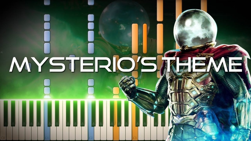 Mysterio's Theme - Spider-Man: Far From Home OST (Synthesia Piano Tutorial)SHEETSMIDI