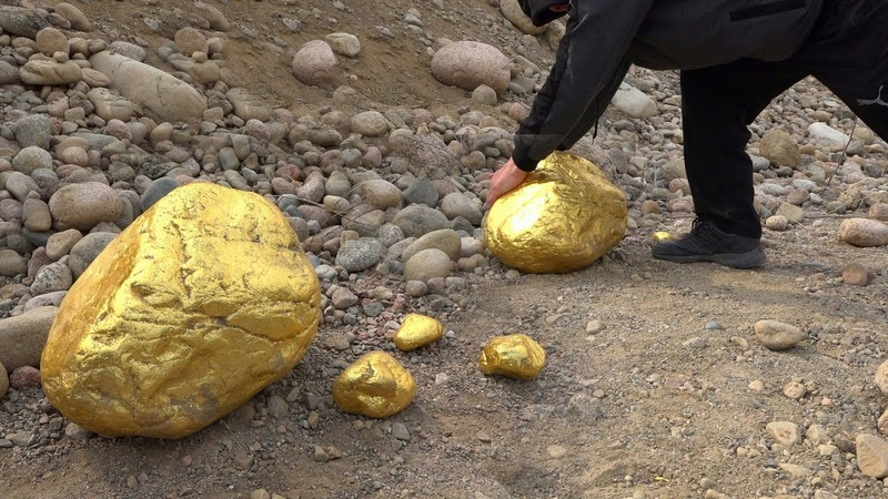 Huge! 300-500 kg Gold Nugget! (On Prominent Place)