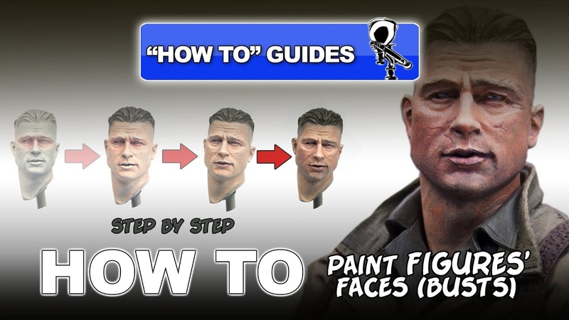 PAINTING FIGURES' FACES STEP BY STEP BUSTS