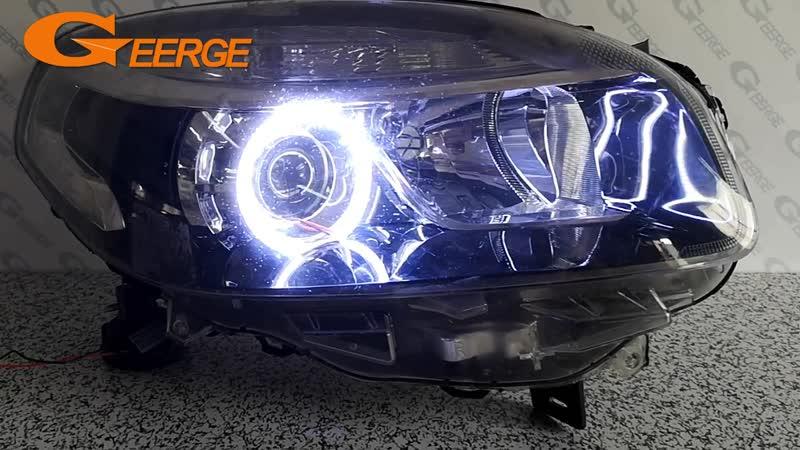 For Renault Koleos Samsung QM5 2012 2013 2014 Excellent angel eyes Ultra bright illumination COB led angel eyes kit