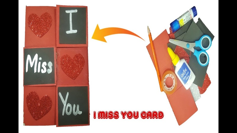 Miss you greeting card idea easy to make At Home 2020 MK ART AND CRAFT